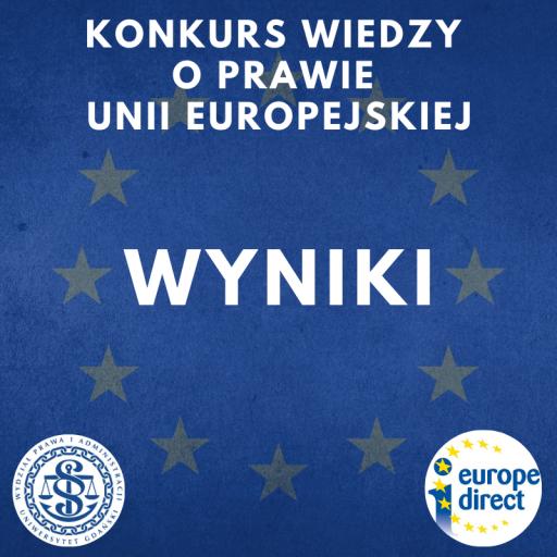 WYNIKI KONKURSU WIEDZY O PRAWIE UE
