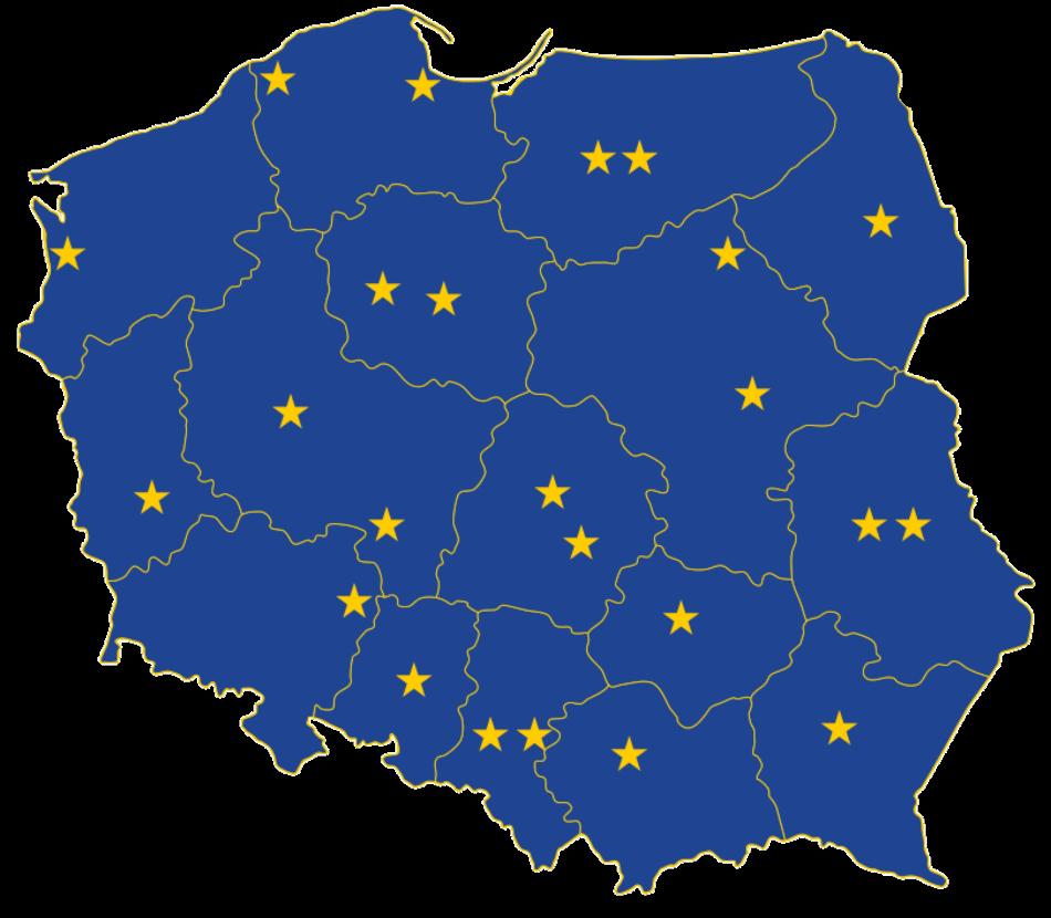 Punkty Europe Direct w Polsce